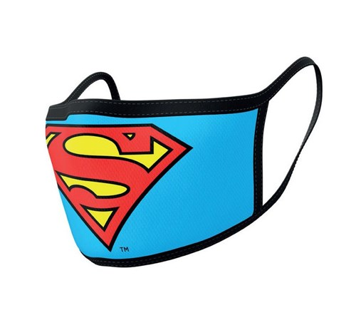 Superman Face Masks 2-pack - Logo
