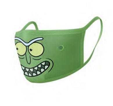 Rick and Morty Face Masks 2-Pack - Pickle Rick