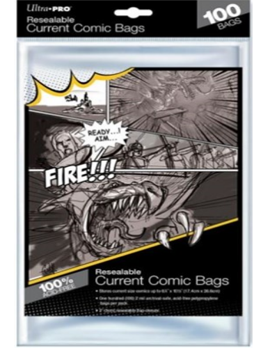 Comic Current Size bags - resealable (Ultra Pro) (100st)